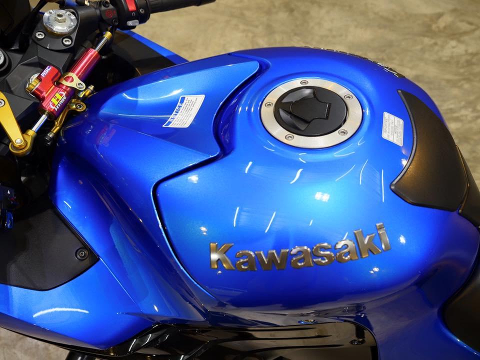 Kawasaki ZX14R Ha ma hung ton qua version Race Blue - 5