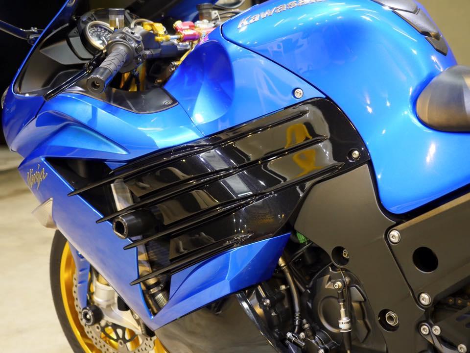 Kawasaki ZX14R Ha ma hung ton qua version Race Blue - 7