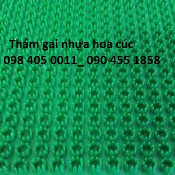 Tham gai nhua hoa cuc 09 mau do gia re nhat 098 405 0011 - 2