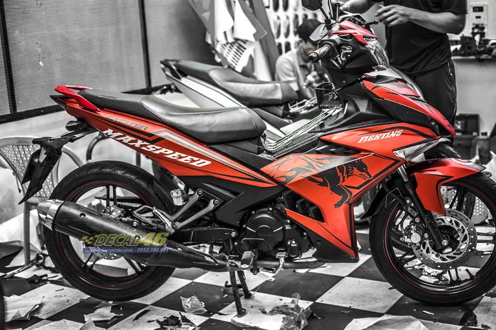 Tong hop tem xe Exciter 150 do den thang 1 do Decal46 thuc hien - 3