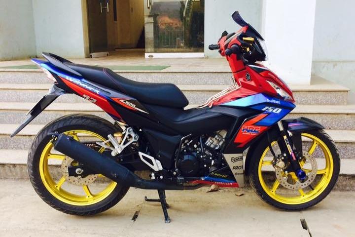 Winner 150 do dep diu dang voi phong cach HRC cua biker Lao Cai - 5
