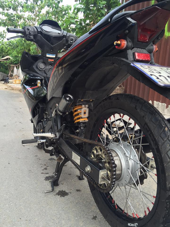 Exciter 150 do phong thai Mxking red black day lich lam - 5