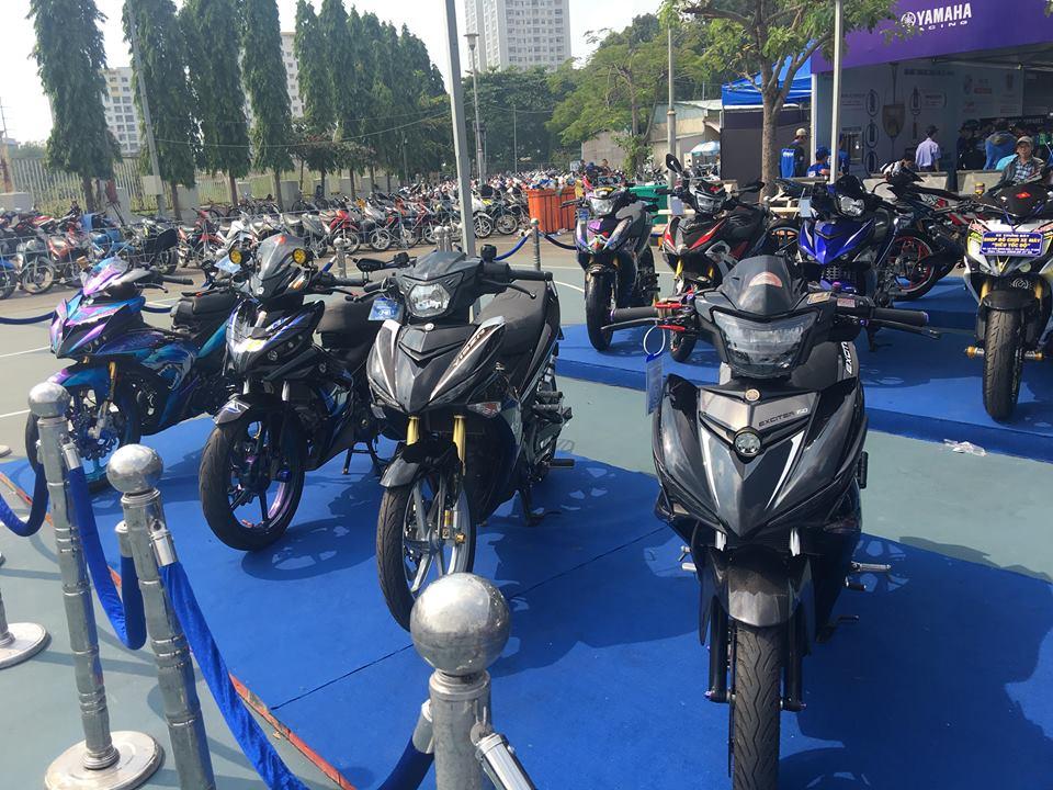 Hang van xe dep quy tu khoe sac trong ngay hoi Yamaha GP 2018 - 2