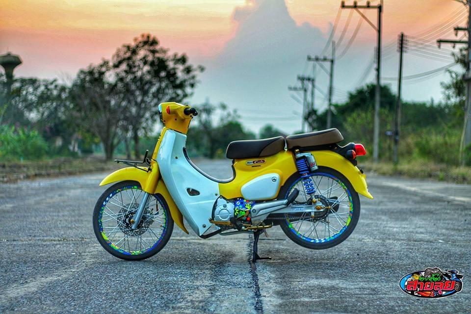 Honda Cub do voi option do choi kieng gia tri cua biker Thailand - 10