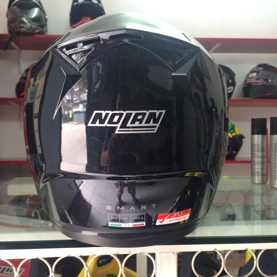 Moto299 Mu bao hiem nho nhe Nolan N64 den bong - 4