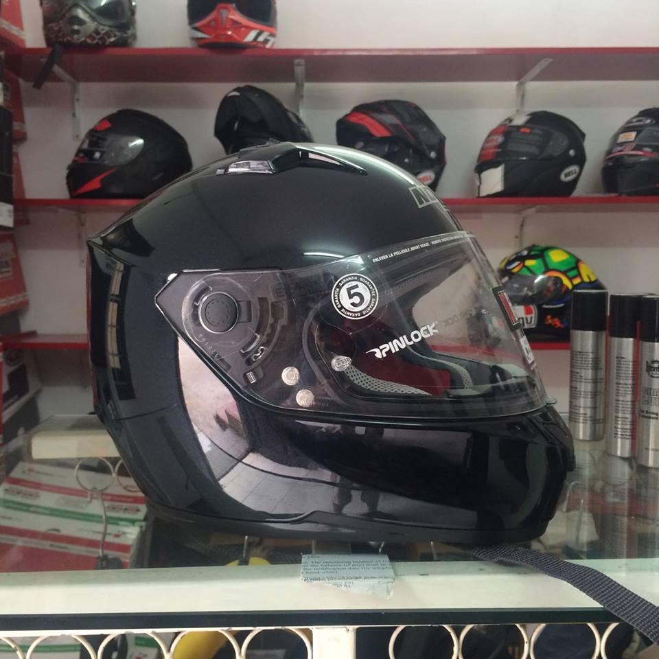 Moto299 Mu bao hiem nho nhe Nolan N64 den bong - 5