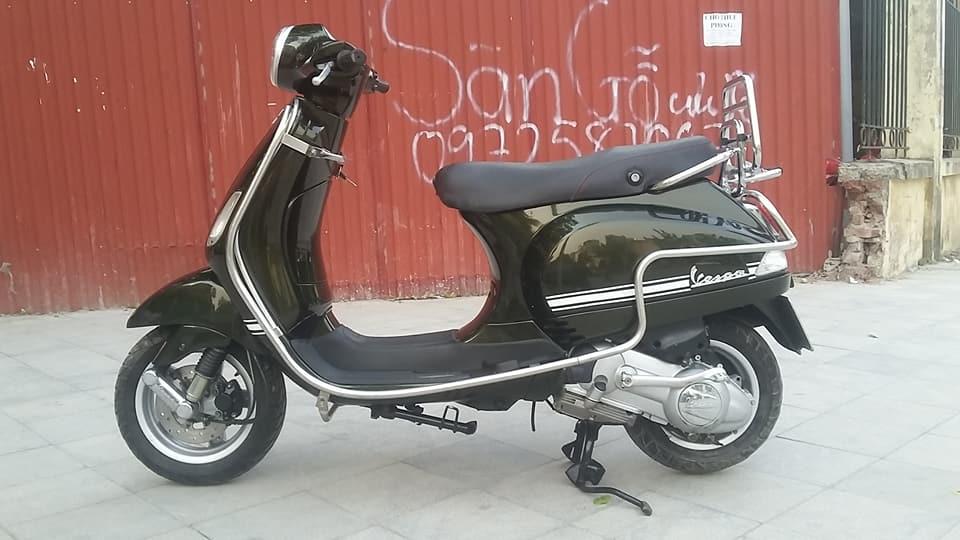 Vespa Lx 150 nhap italia mau xanh reu bien HN - 6