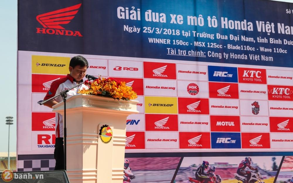 Honda Viet Nam mo man Giai dua xe Mo to toan quoc nam 2018 tai truong dua Dai Nam - 2