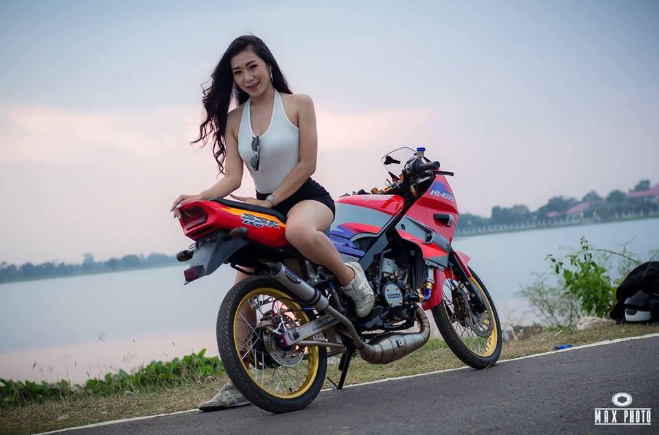 Kawasaki Kips 150 do yeu long truoc bong hong sexy cua biker Thailand - 9