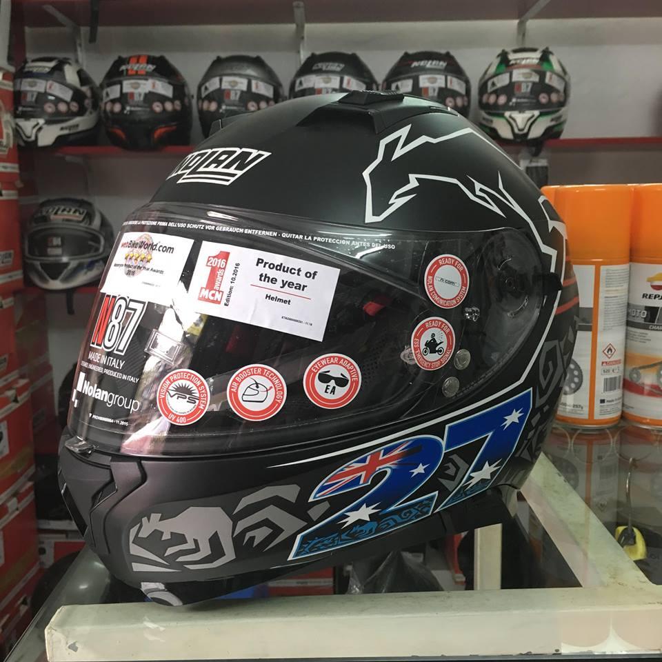 motobox Nolan N87 Stoner Black in hinh chuot tui - 3