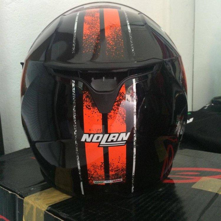 Motobox299 Nolan N87 Fulgor Metal Black Orange su cuon hut cua kim loai den - 2