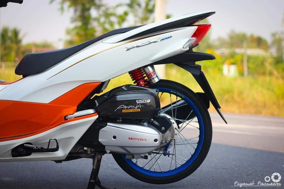 PCX 150 do Drag tao dang ben con duong cao toc cua biker Thailand - 7