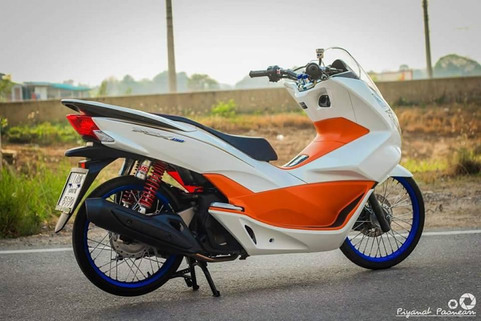 PCX 150 do Drag tao dang ben con duong cao toc cua biker Thailand - 9