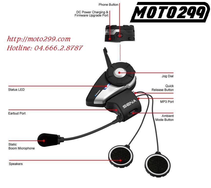 Moto299 Tai nghe Bluetooth Sena 20S dang cap cho dan Motor - 3