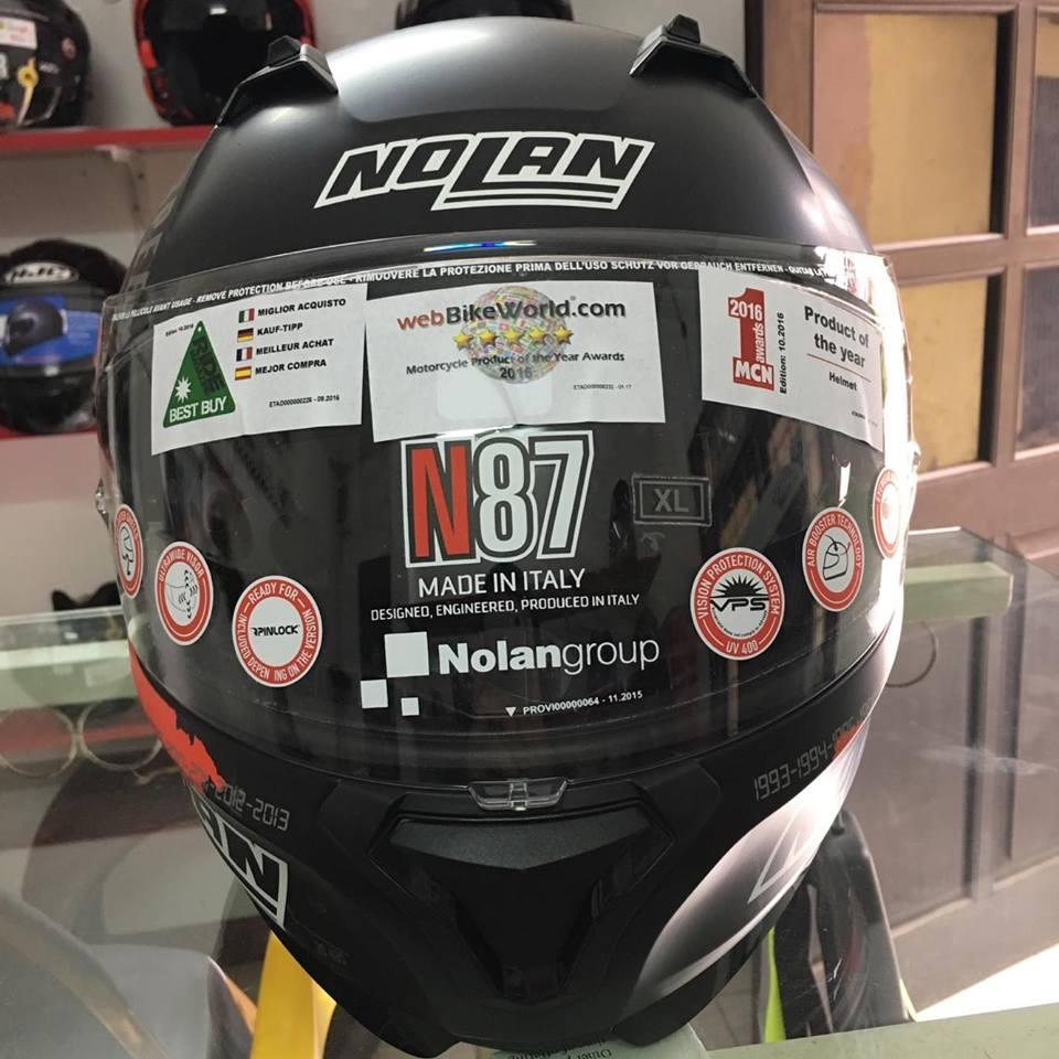 motobox Nolan N87 Checa Flat Black 34 den cham do - 3