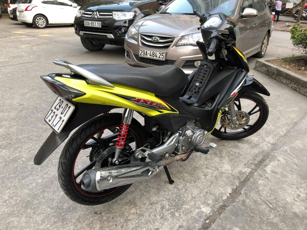 Suzuki Axelo125 RR 2014 bs 29D Xanh Den may nghin km 16 trieu chinh chu ban gap full an - 3