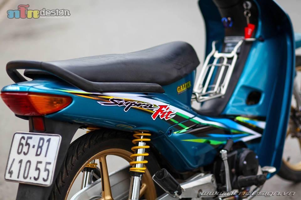 Wave 110 do dan chan Racingboy khoe dang chieu tren pho - 5
