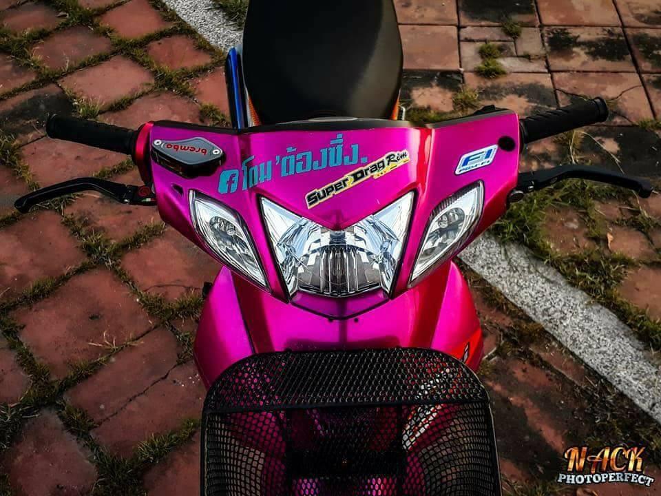 Wave 125i do mang ve dep tu tren troi roi xuong cua biker Thai - 4