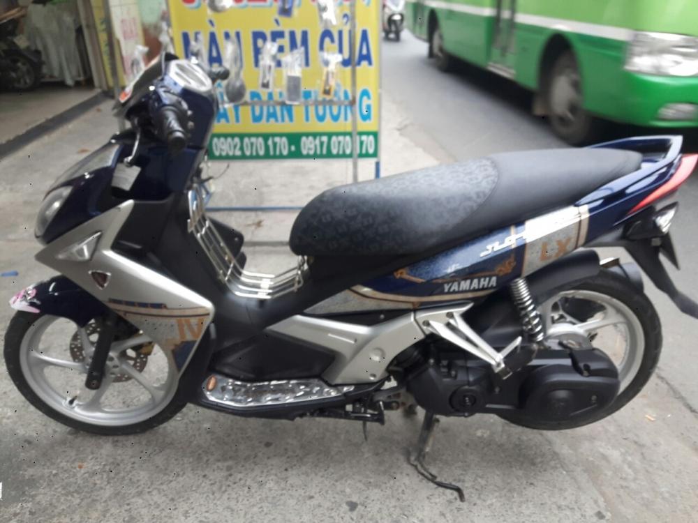 Yamaha Nouvo LX 135 mau xanh bac xe dep - 2