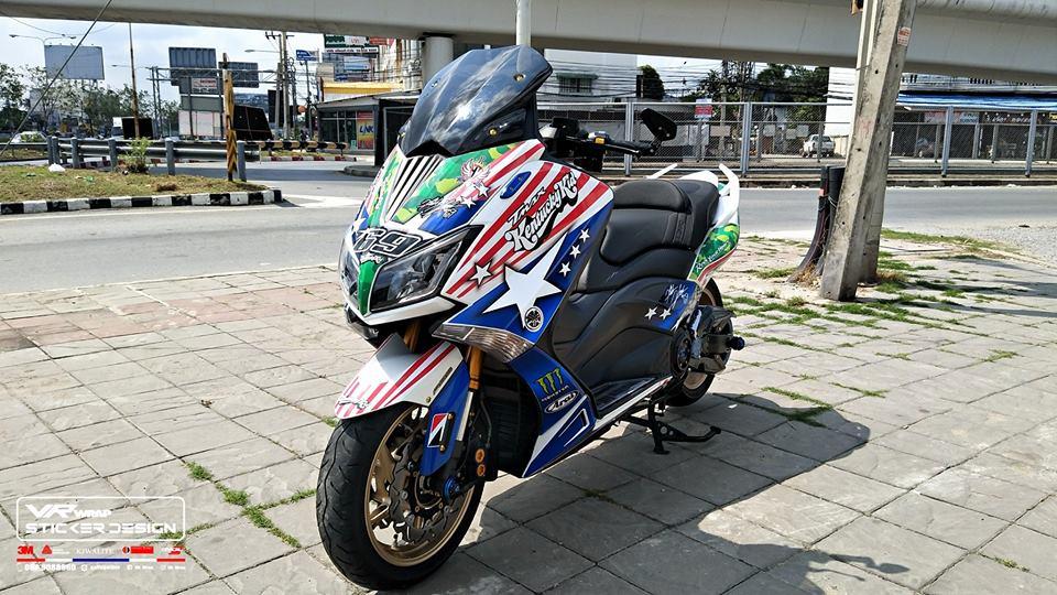 Yamaha Tmax ban do dam chat thai qua bo tem dau American - 3
