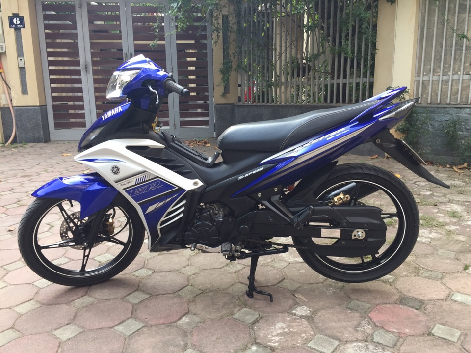 Ban Yamaha Exciter135 GP 2015 xanh trang 29Y chinh chu 25tr800 nguyen ban - 2