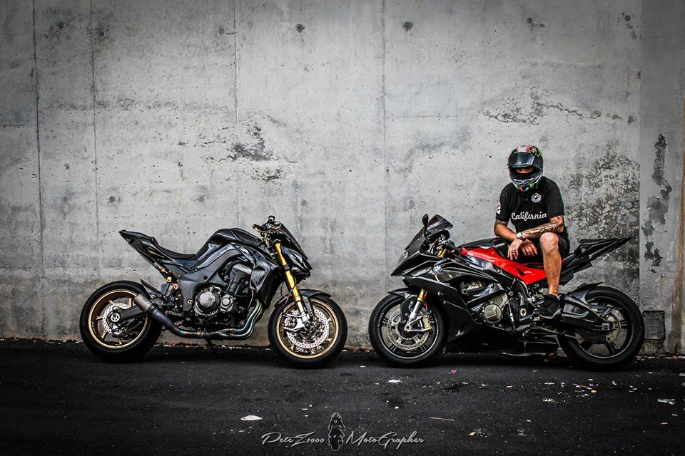 BMW S1000RR tao dang cuc gau voi Nakedbike Z1000 - 9