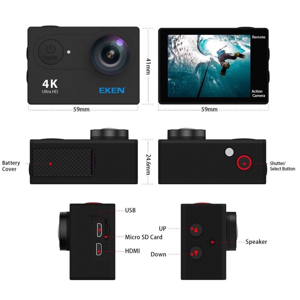 Camera hanh trinh xe may Eken H9R - 15