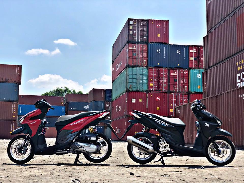 Click 125 do khoe dang ben dan thung Container - 3