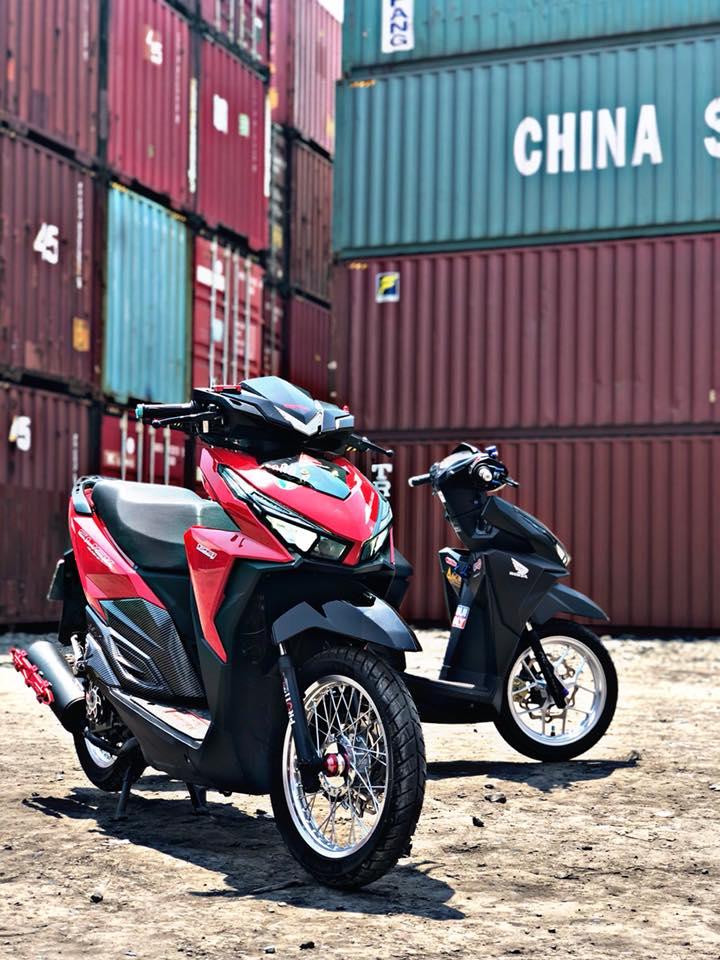 Click 125 do khoe dang ben dan thung Container - 4
