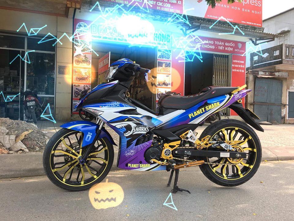 Exciter 150 do chu ca map hung ton voi dan chan co bap cua biker Quang Binh - 3
