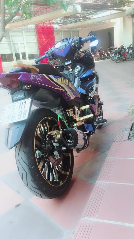 Exciter 150 do chu ca map hung ton voi dan chan co bap cua biker Quang Binh - 7