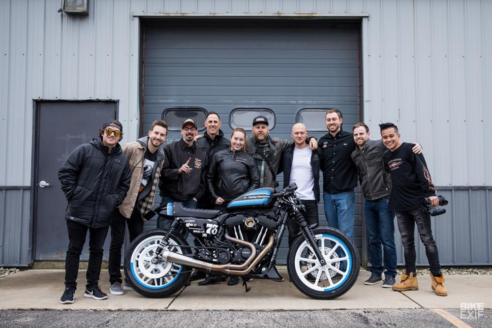Harley Davidson SPORTSTER IRON 1200 ban do dot bien mang hinh thai Cafe Racer - 9