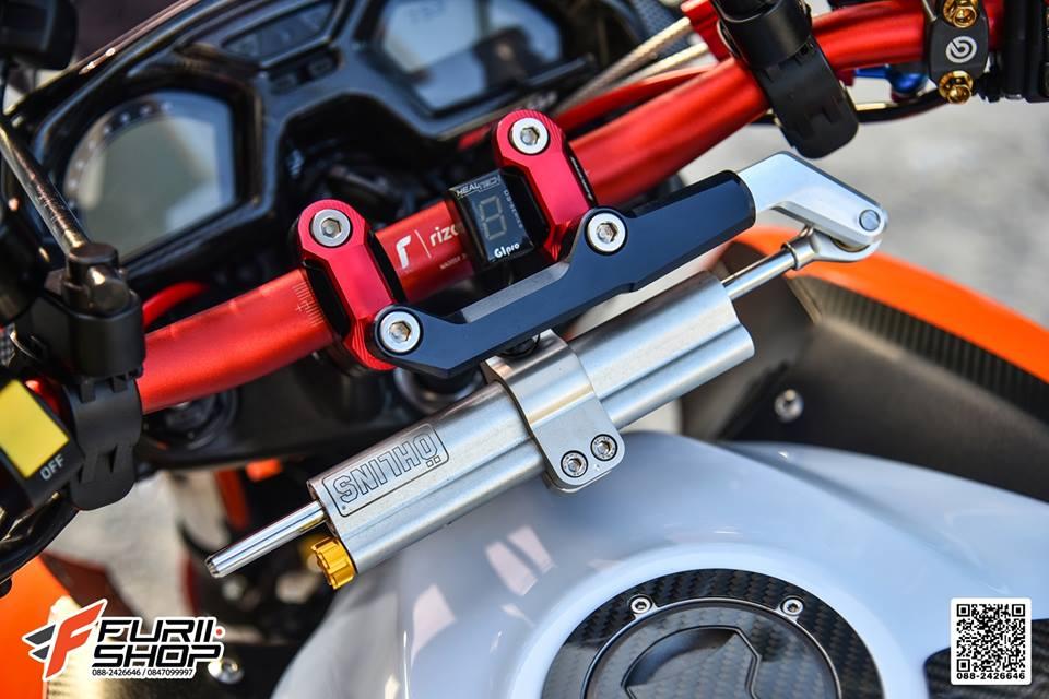 Honda CB650F dac sac qua tong mau cam loe loet - 11
