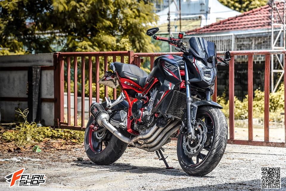 Honda CB650F do day cam hung voi dan ghidong da sac - 3
