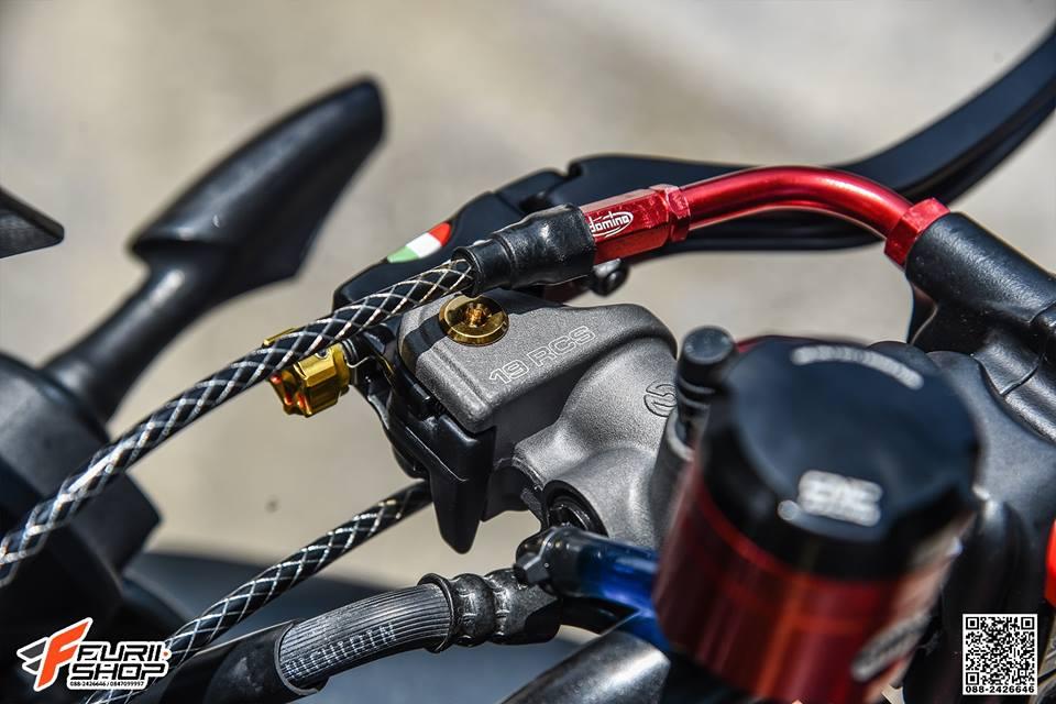 Honda CB650F do day cam hung voi dan ghidong da sac - 5
