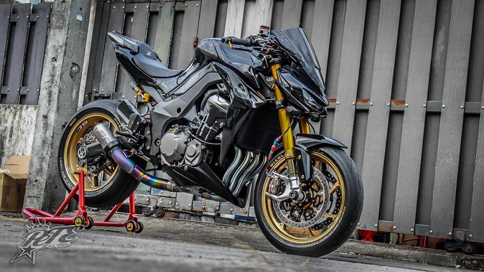 Man nhan voi ban do Kawasaki Z1000 trang bi tan rang - 9