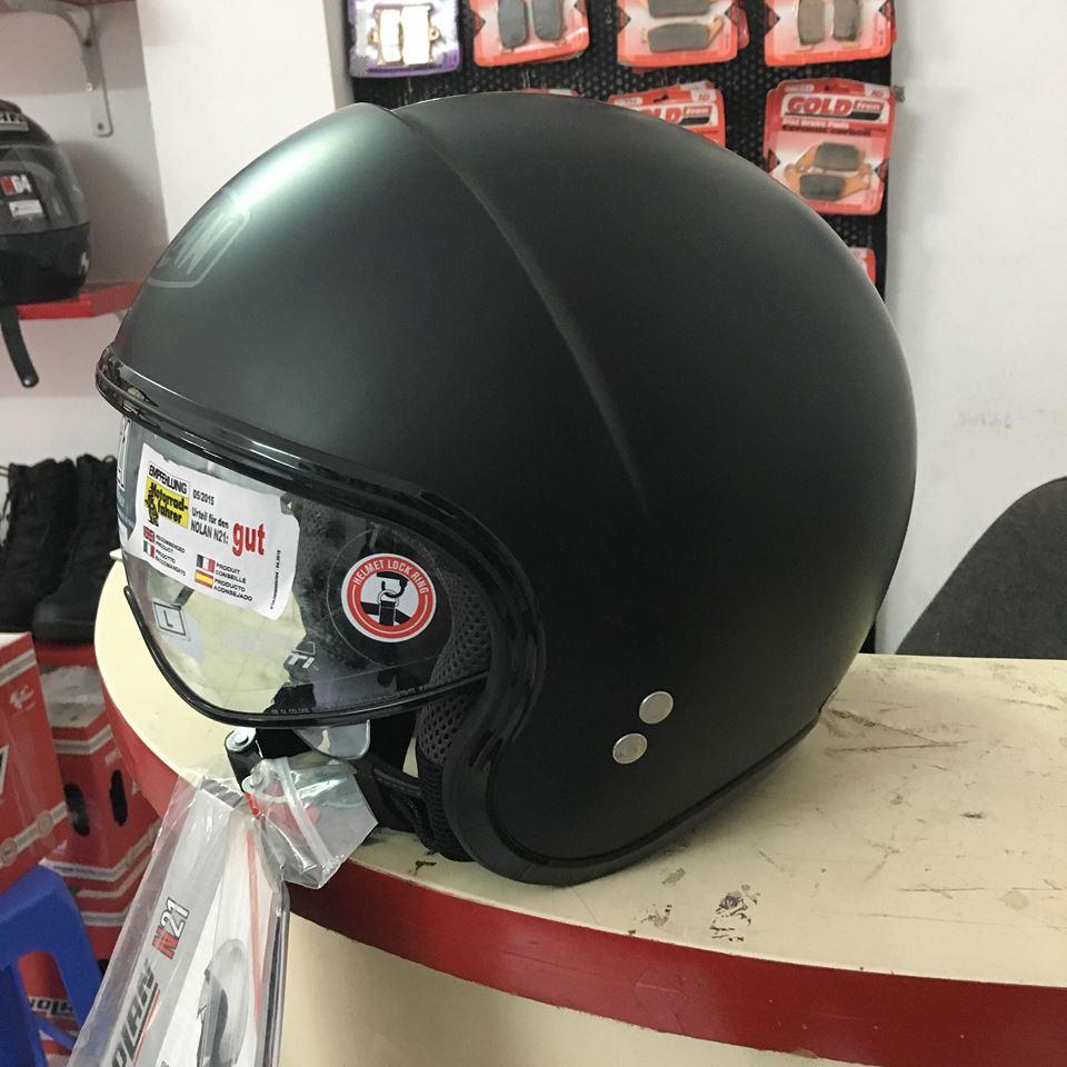 motobox Ve dep tinh te cua Non bao hiem Nolan N21 Flat Black