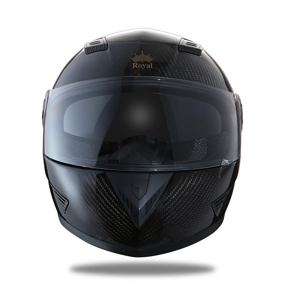 Royal Helmet Ha Noi Mu bao hiem ROYAL CARBON M09 Den them pham ca tinh cho mua he - 2