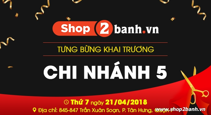 Shop2banh Tung bung khai truong chi nhanh Quan 7