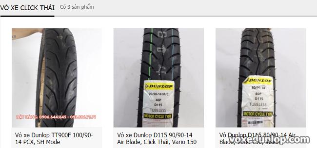 Thay vo Dunlop cho xe tay ga Click Thai Tai sao khong - 3