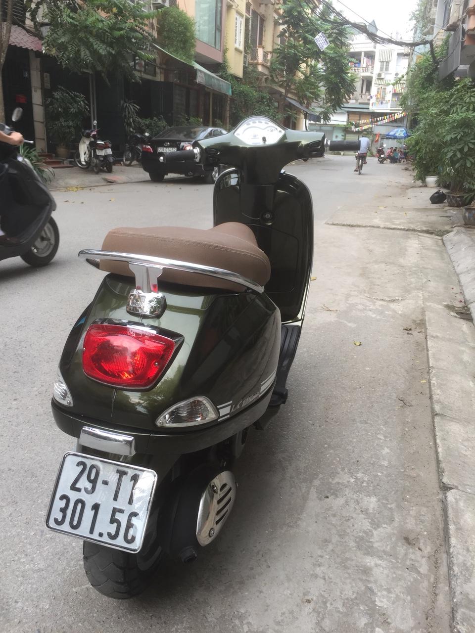 Vespa Lx 125 3vie Xanh reu 2015 chinh chu ko dung den 29T con moi 95