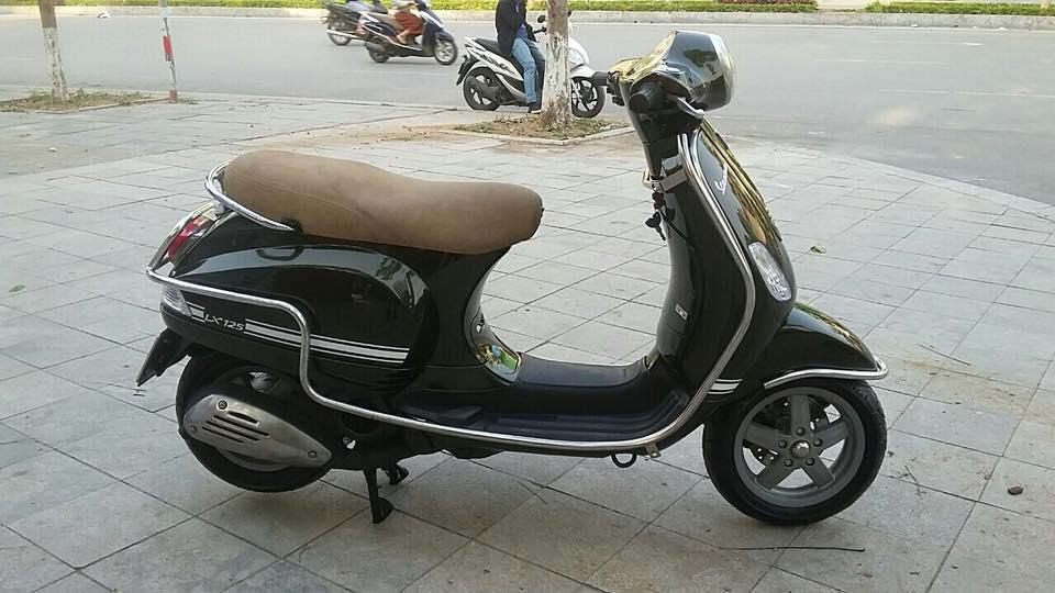 Vespa Lx 125cc nhap italia mau xanh reu bien HN - 5