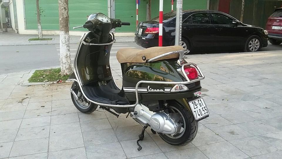 Vespa Lx 125cc nhap italia mau xanh reu bien HN - 4