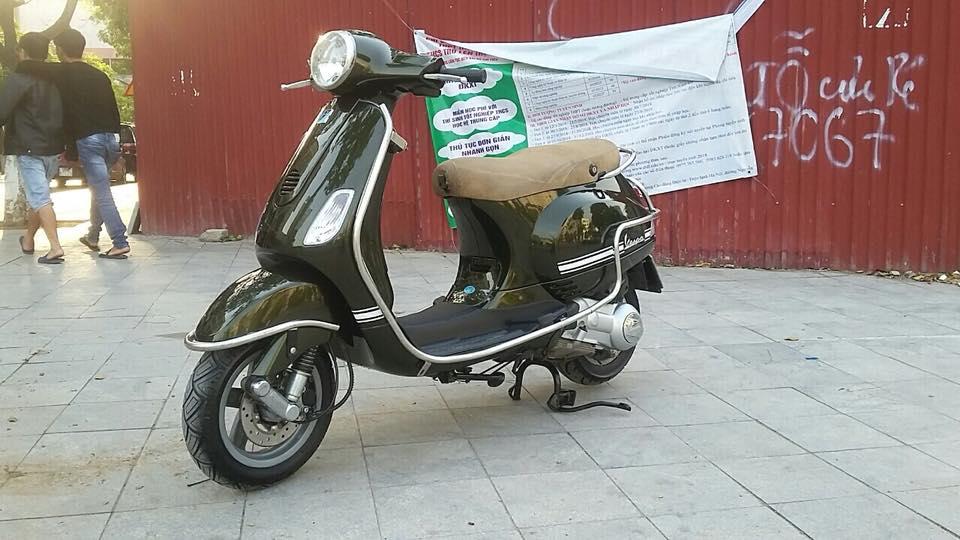 Vespa Lx 125cc nhap italia mau xanh reu bien HN - 6