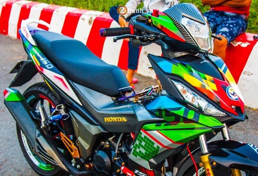 Winner 150 do mang ve dep tao bao voi option do choi chat cua biker Long An - 3