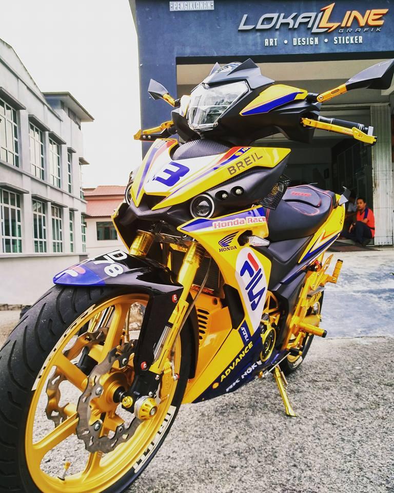 RS150 do voi option do choi tone vang choi loa cua biker Malaysia - 4