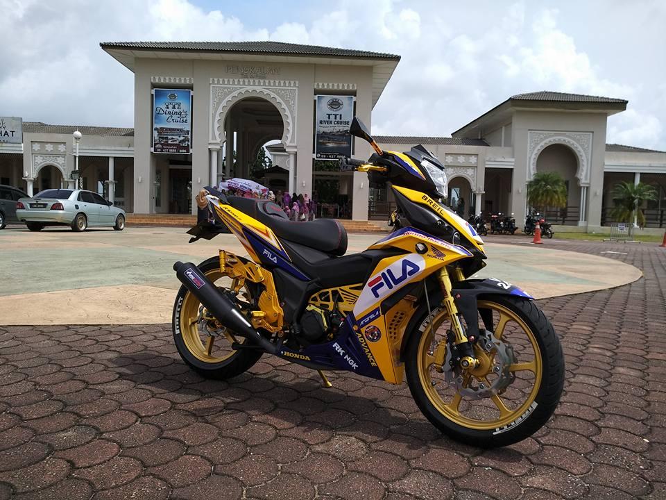 RS150 do voi option do choi tone vang choi loa cua biker Malaysia - 6