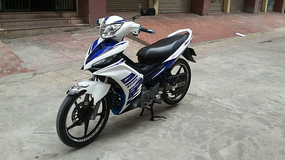 Yamaha Exciter 135cc mau xanh GP con tu dong HN - 4