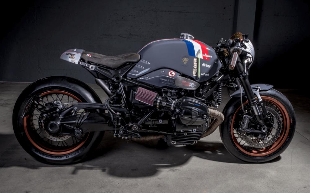BMW R NineT ban do Cafe Racer den tu xuong do VTR Custom - 8