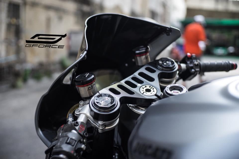 Ducati 899 Panigale la lam voi tone mau xam Lamborghini - 3